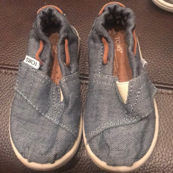 Toms Other - Pair of baby denim shoes. Toms. Worn an hour.